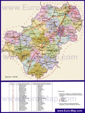 Административная карта районов Калужской области