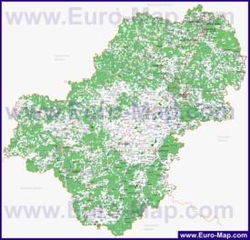 Подробная карта калужской области с
