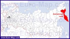 Камчатка на карте России