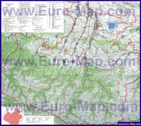 Подробная топографическая карта Карачаево-Черкесии