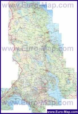 Топографическая карта Карелии