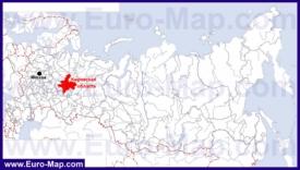 Кировская область на карте России
