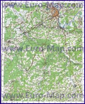 Топографическая карта Кировской области