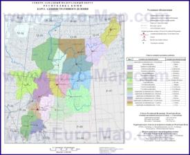 Административная карта районов Коми