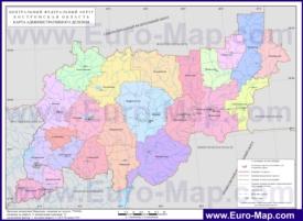 Административная карта районов Костромской области