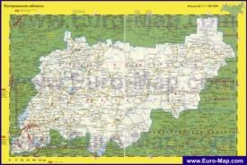 Автомобильная карта дорог Костромской области