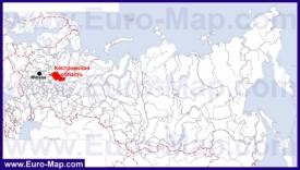 Костромская область на карте России