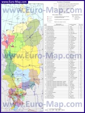 Административная карта районов Красноярского края
