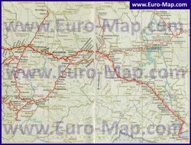 Карта железных дорог Красноярского края