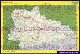 Автомобильная карта дорог Курганской области