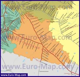 Карта железных дорог Курганской области