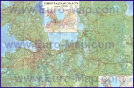 Подробная карта Ленинградской области