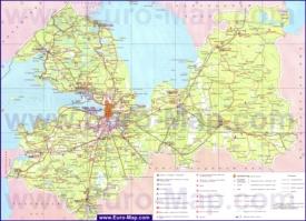 Туристическая карта Ленинградской области с достопримечательностями