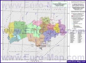 Административная карта районов Марий Эл