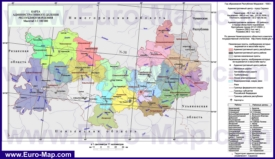 Административная карта районов Мордовии
