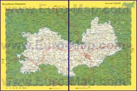 Автомобильная карта дорог Мордовии