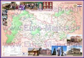 Подробная туристическая карта Мордовии