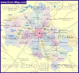 Административная карта районов Московской области