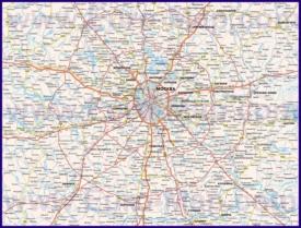 Автомобильная карта дорог Московской области