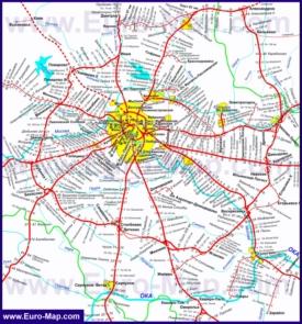Карта железных дорог Московской области