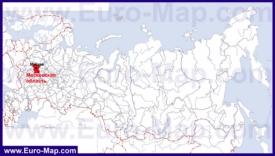 Московская область на карте России