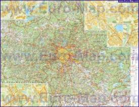 Подробная карта Московской области с городами