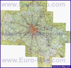 Подробная топографическая карта Московской области