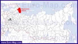 Мурманская область на карте России