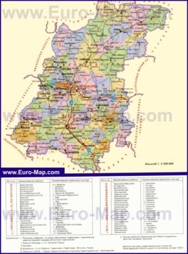 Административная карта районов Нижегородской области