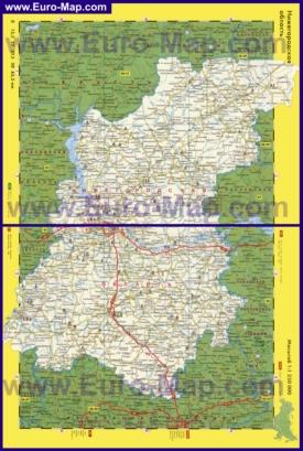 Автомобильная карта дорог Нижегородской области