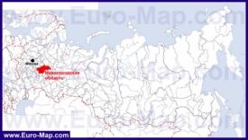Нижегородская область на карте России
