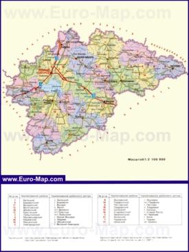Административная карта районов Новгородской области