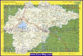 Автомобильная карта дорог Новгородской области