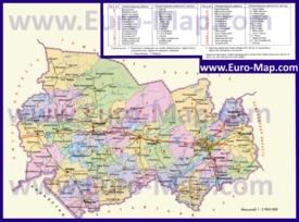 Административная карта районов Новосибирской области