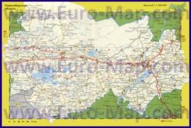 Автомобильная карта дорог Новосибирской области