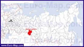 Омская область на карте России