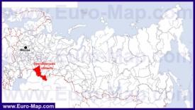 Оренбургская область на карте России