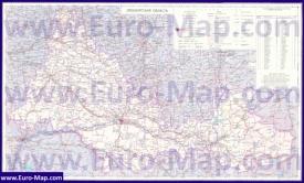 Подробная карта Оренбургской области