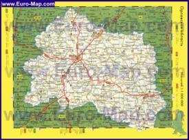 Автомобильная карта дорог Орловской области