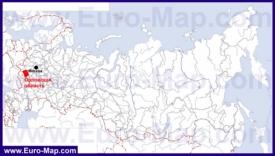 Орловская область на карте России