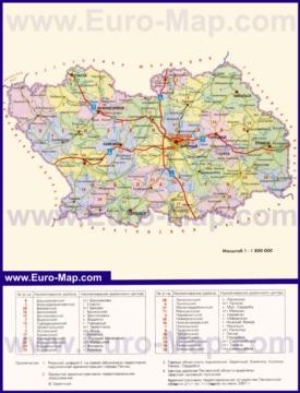 Административная карта районов Пензенской области