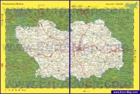 Автомобильная карта дорог Пензенской области
