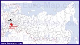 Пензенская область на карте России