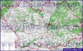 Топографическая карта Пензенской области