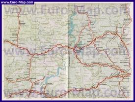 Карта железных дорог Пермского края