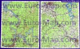 Топографическая карта Пермского края
