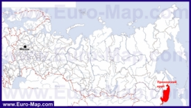 Приморский край на карте России