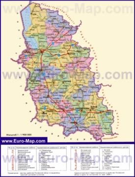 Административная карта районов Псковской области