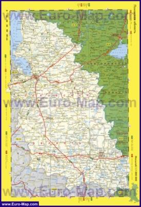 Автомобильная карта дорог Псковской области