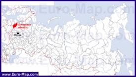 Псковская область на карте России